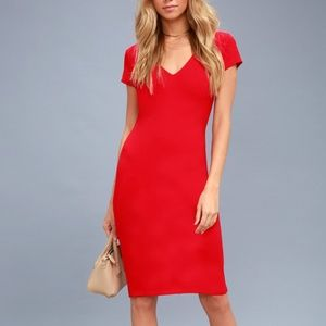 """Lulu's """"Business of Love"""" Red Bodycon"""